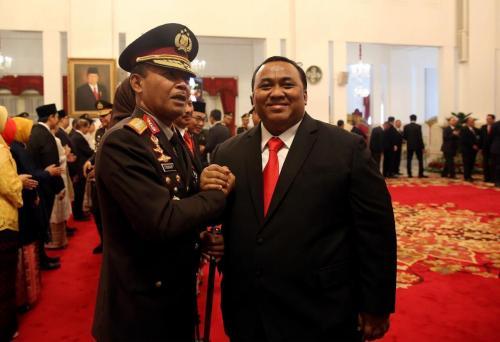 Andi Gani dan Kapolri Jenderal Idham Azis