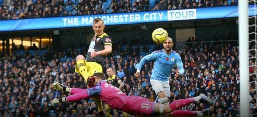 Suasana laga Man City vs Southampton