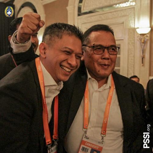 Iwan Budianto dan Cucu Sumantri. Foto: Twitter PSSI