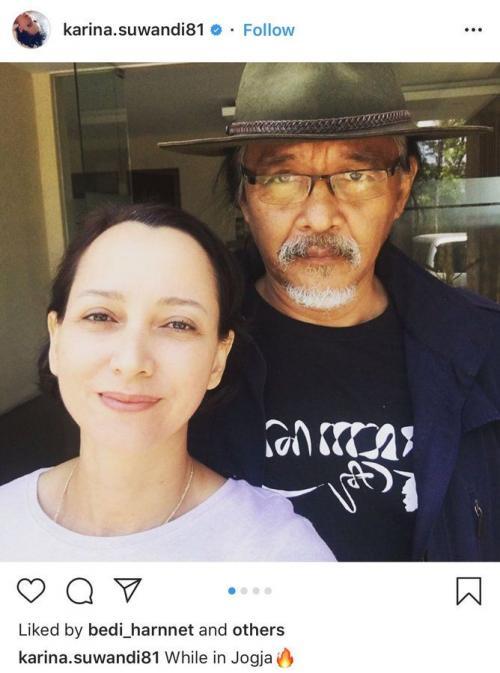 Karina Suwandi dan Sudjiwo Tedjo (Foto : Instagram)