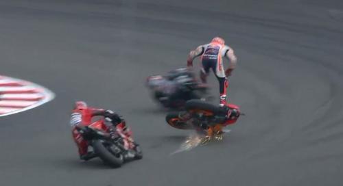Marc Marquez mengalami kecelakaan