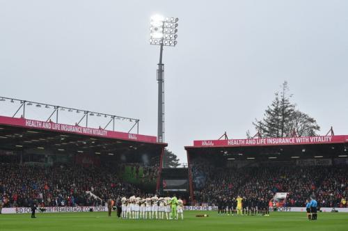 Suasana laga Bournemouth vs Man United