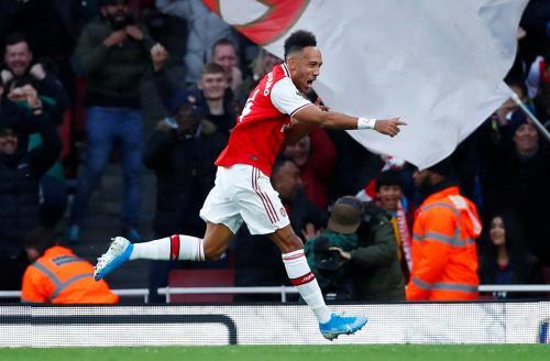 Aubameyang saat membela Arsenal