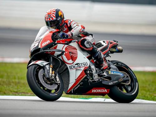 Johann Zarco saat membela LCR Honda