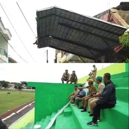 Kanopinya terpasang untuk menutupi stadionnya, lebih cocok enggak?