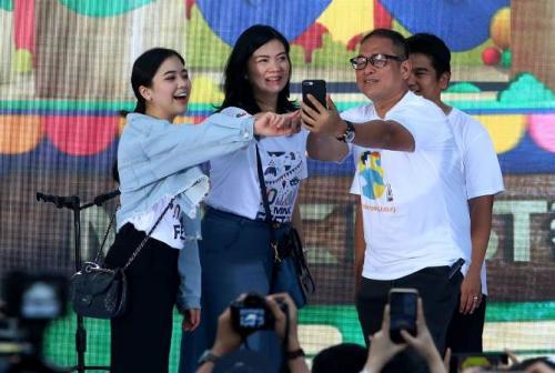Jessica Tanoesoedibjo, Direktur PT MNC Kapital Indonesia Tbk, saat launching SPIN. (MNC Group)