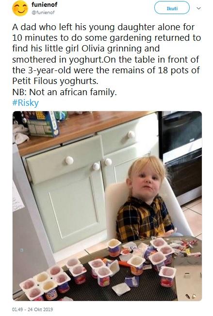 Bocah Makan Yoghurt