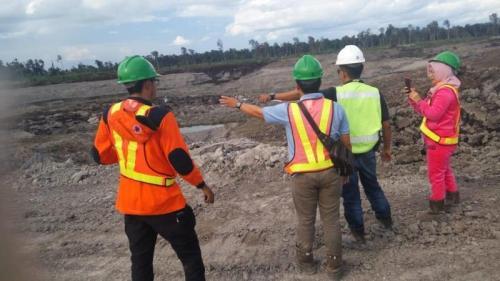 Lokasi pergerakan tanah di site Bebatu, Kabupaten Tana Tidung, Kalimantan Utara, Sabtu (2/11/2019).1 (Dok BNPB)