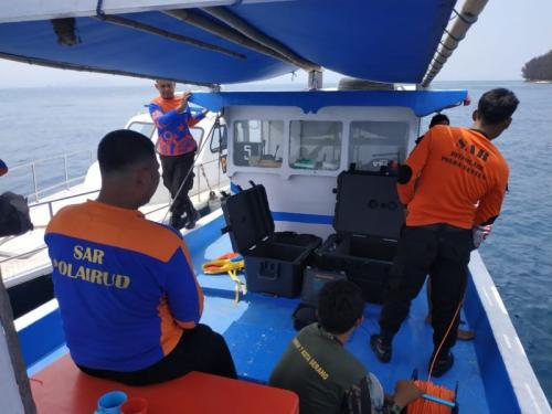 Basarnas Banten Kerahkan 2 ROV untuk Cari 3 WNA Asal China yang Hilang di Pulau Sangiang (Basarnas Banten)