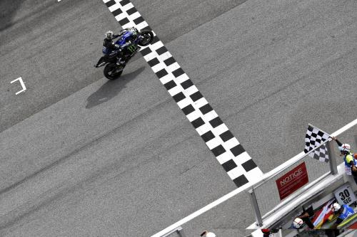 Maverick Vinales saat tampil pada sebuah balapan di MotoGP 2019
