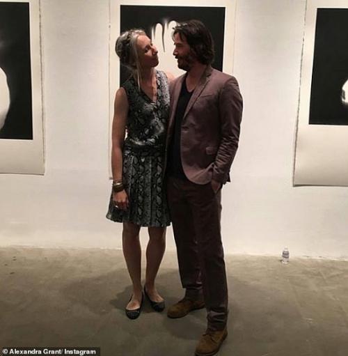 Keanu Reeves dan pacar barunya, Alexandra Grant. (Foto: Instagram/@grantalexandra)