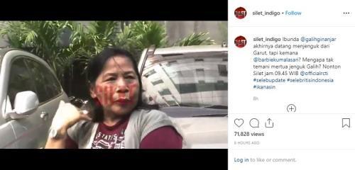 Ibu mengaku, Galih Ginanjar menangis saat dijenguknya. (Foto: Instagram/@silet_indigo)