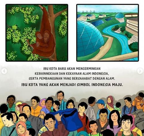 Komik Pemindahan Ibu Kota Jokowi (IG)