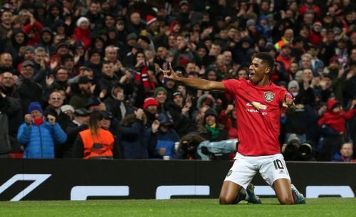 Marcus Rashford menyumbang satu gol di laga tersebut (Foto: Twitter/Man United)