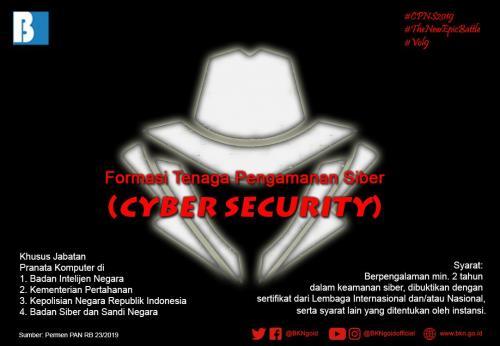 Formasi CPNS 2019 untuk Cyber Security