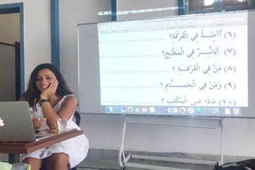 Youtuber mengajarkan Bahasa Arab