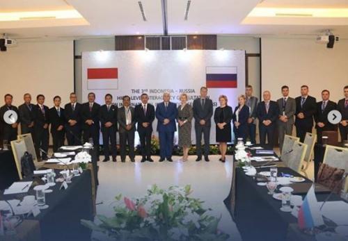 Pemerintah RI dan Rusia mengadakan Forum Konsultasi Bilateral (FKB) ke-3 Indonesia-Rusia di Yogyakarta, Indonesia (foto: Instagram/@bssn_ri)
