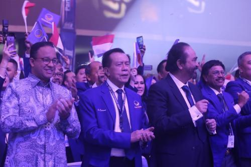 Anies Baswedan dan jajaran petinggi Nasdem. (Foto: Dok Okezone/Muhamad Rizky)