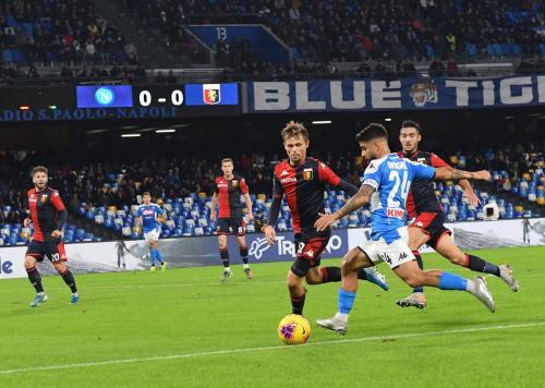 Napoli gagal menceploskan bola ke gawang Genoa selama 90 menit (Foto: Twitter/Napoli)