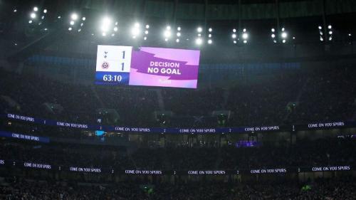 VAR menganulir gol pertama Sheffield United (Foto: Premier League)