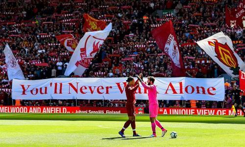 Fans Liverpool memadati Anfield