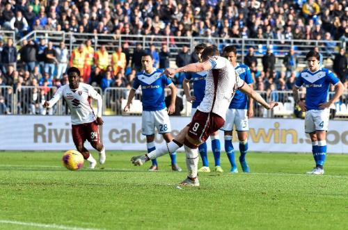 Andrea Belotti mencetak dua gol dari titik putih (Foto: Twitter/Torino)
