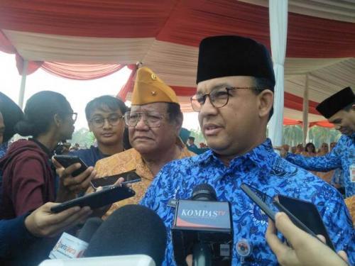 Anies jadi irup Hari Pahlawan 2019. (Foto: Achmad Fardiansyah/Okezone)