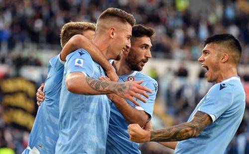 Lazio sanggup menyapu bersih kemenangan di lima laga terakhir (Foto: Twitter/SS Lazio)