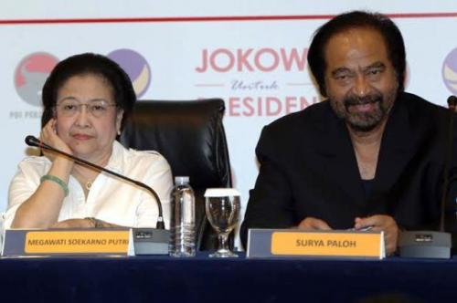 Megawati dan Surya Paloh. (Foto: Dok Sindo)