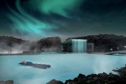 Kolam renang Blue Lagoon Geothermal Resort di Grindavík, Islandia menawarkan pengalaman sekali seumur hidup menikmati kehangatan air di atas 'titik panas' di bumi.