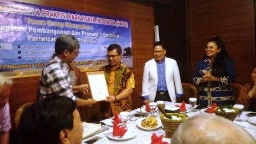 Gerkindo bahas pariwisata Indonesia. (Foto: Arie Dwi Satrio/Okezone)