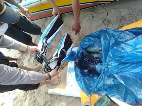 Penemuan Jasad Diduga WNA asal China yang Hilang di Pulau Sangiang (foto: Ist)