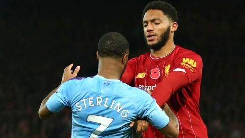 Raheem Sterling dan Joe Gomez