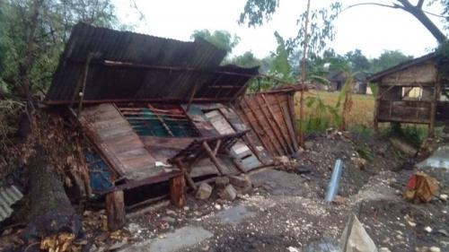 Hujan Disertai Angin Kencang Terjang Bojonegoro (foto: Okezone/Avirista)