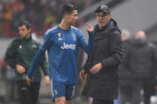 Cristiano Ronaldo dan Maurizio Sarri