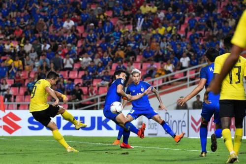 Timnas Thailand diimbangi Malaysia 2-2 di Bangkok sehingga tersingkir dari Piala AFF 2018 (Foto: AFF Suzuki Cup)