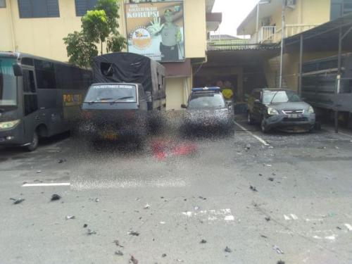 Bom Bunuh Diri di Mapolrestabes Medan, Sumut (foto: Ist)