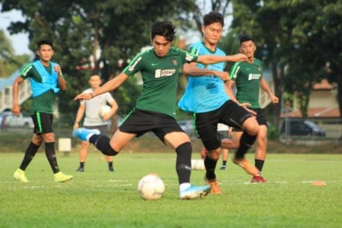 Timnas Indonesia berlatih