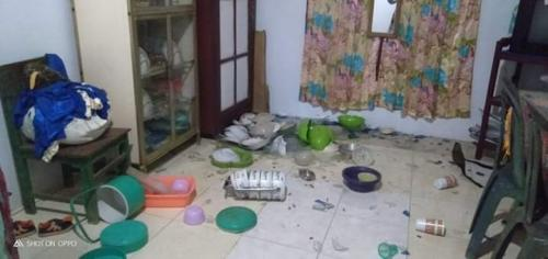 Dampak gempa di Maluku Utara. (BNPB)