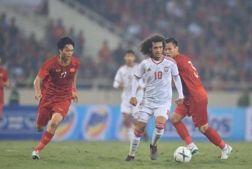 Timnas UEA tumbang 0-1 di tangan Vietnam (Foto: Twitter/UEAEnt2019)