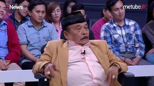 Bolot mengaku, nama panggungnya itu merupakan pemberian sang nenek. (Foto: YouTube/iNews)