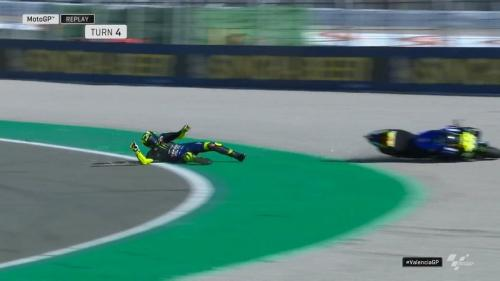 Kecelakaan Rossi di MotoGP Valencia 2019
