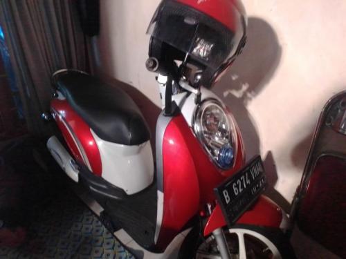 Sepeda Motor Almarhumah Niswatul Umma Usai Diperbaiki (foto: Okezone/Hambali)