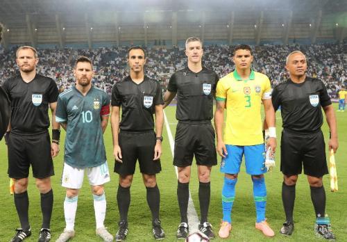 Timnas Argentina menggelar laga persahabatan dengan Brasil di Arab Saudi (Foto: Twitter/Seleccion Argentina)