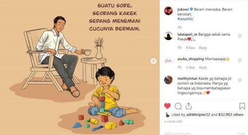 Komik Jokowi (Foto : Instagram/@Jokowi)