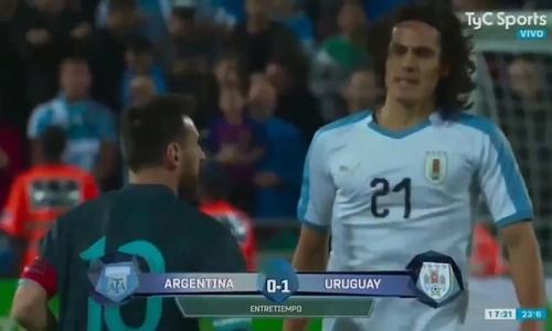 Messi vs Cavani di laga persahabatan Argentina kontra Uruguay