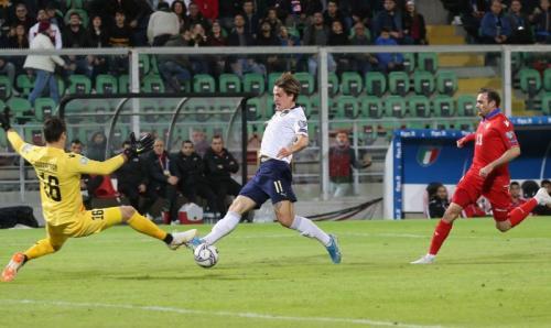 Nicolo Zaniolo harus lupakan mimpi bela Timnas Italia di Piala Eropa 2020 (Foto: UEFA)