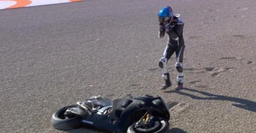 Alex Marquez sempat mengalami kecelakaan pada tes di Valencia (Foto: Twitter/MotoGP)