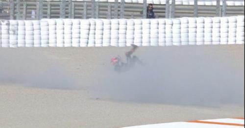 Fabio Quartararo terjatuh pada tes di Valencia