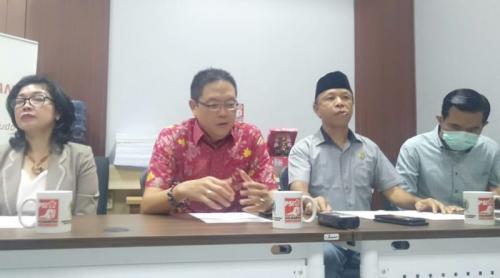 Fraksi PSI DPRD Kota Tangsel Beberkan Anggaran Misterius Rp21 Miliar di Dinas Kominfo tahun APBD 2020 (foto: Okezone/Hambali)